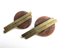 CONSTRUCTION // copper and brass earrings mixed by lucialaredo,