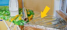 Отличная идея, как сократить время угладильной доски вдвое