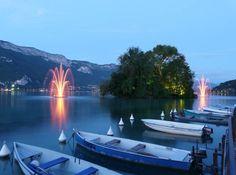 Les jets d'eau d'Annecy,  Photo du 27-05-10