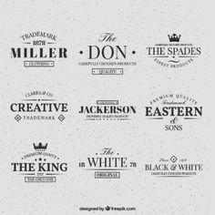 collection rétro de logos