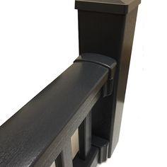 Super Rail Premium Foiled Balustrade Section with Bracket Shrouds Post Sleeve, Golden Oak, Railings, Wood Grain, Deck, Range, Colours, Contemporary, Natural