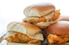 Crisp breading, tender juicy chicken, tangy pickles, and a buttered hamburger bun are the key players in this homemade version of the Chick-fil-A sandwich.