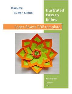 Paper flower template PDF/SVG