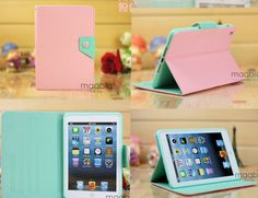 New Pink Mint Magnetic Leather Folio Stand Smart Case Cover for iPad Mini MDY08 | eBay