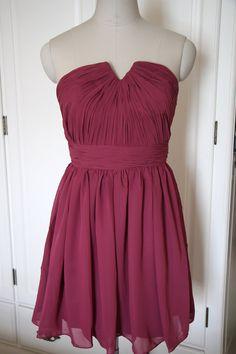 Red Purple Short/Floor Length Strapless Bridesmaid by AlexDress