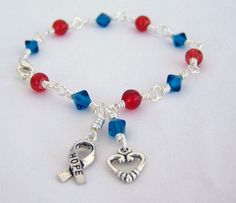 Congenital Heart Defect Awareness Bracelet by HopeFaithAndBeads, $13.99