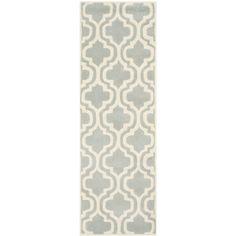 Safavieh Contemporary Handmade Moroccan Chatham Gray/ Ivory Wool Rug (2'3 x 9') | Overstock.com Shopping - Great Deals on Safavieh Runner Ru...
