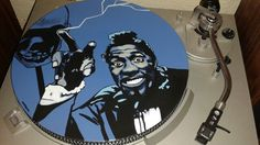 Screamin Jay Hawkins painted vinyl record