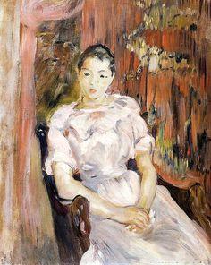 Young Girl Resting Berthe Morisot - circa 1894