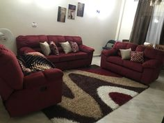 Live In Style, Sofa, Couch, Color Themes, Burgundy, Brown, Furniture, Home Decor, Settee