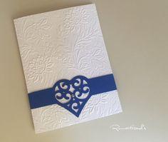 Partecipazione a cuore by Romanticards , by Romanticards e Little Rose Handmade, 1,60 € su misshobby.com