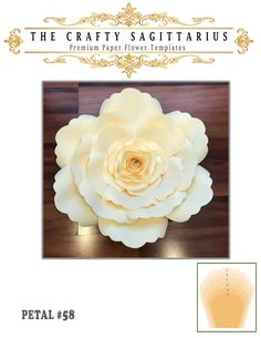 Start your own paper flower business and make money from the comfort of your home using The Crafty Sagittarius Premium Paper flower templates Paper Flowers Craft, Paper Flowers Wedding, Paper Flower Wall, Paper Flower Backdrop, Giant Paper Flowers, Paper Roses, Flower Crafts, Paper Crafts, Leaf Template