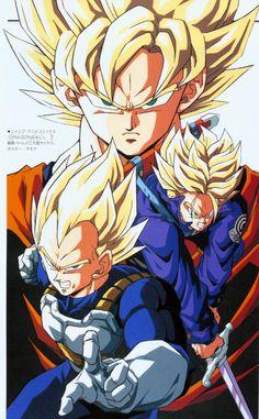 #Goku #Vegeta #Trunks Super Saiyajin #DBZ
