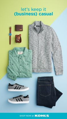 b061d9c6f74 Find business casual style for men at Kohl s. For a laid-back look that