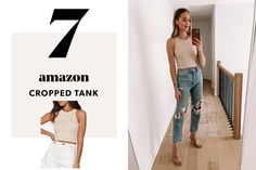 7_image card right White Casual Sneakers, Lace Sneakers, Post Baby Fashion, Square Neck Top, Fashion Jackson, Crop Tank, Autumn Summer, Business Fashion, Flutter Sleeve