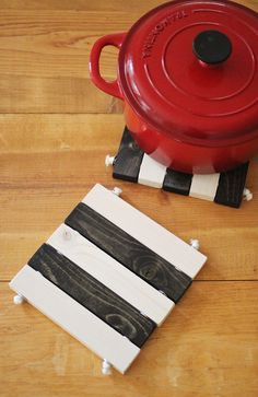 Striped Wooden Trivet | Maker Crate