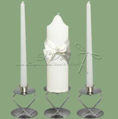 Free Shipping Wedding Unity Candles With Sash Bow Wedding Decoration Party Favors (Not Include Candle Holder) $26.99