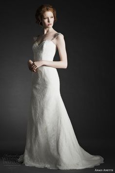 anais anette wedding dresses fall 2014 evelyn gown with straps -- Anais Anette Fall 2014 Wedding Dresses Wedding Dress Boutiques, Wedding Dresses 2014, Bridal Dresses, Wedding Gowns, Blush Bridal, Custom Dresses, Wedding Beauty, Bridal Boutique, Bridal Looks