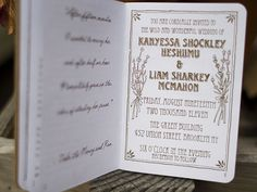 unique wedding invitations, different, with a lil 1920's rustic charm