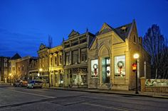 Victorian downtown, Main Street, New Harmony, Indiana