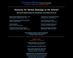 German Roots: German Genealogy Resources -- click the image to go to the website