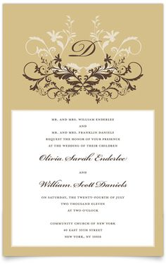 Classic Allure Wedding Invitation