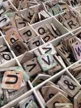 Houten scrabble letters 6x6 Baby-naam