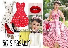 8 Εντυπωσιακές DIY Αποκριατικες Στολες Γυναικειες 2016 | womanoclock.gr 1950s, Pin Up, Hacks, Dresses, Halloween, Diy, Fashion, Vestidos, Moda