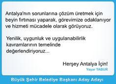 Ak Parti Antalya Büyükşehir Belediye Başkanı Aday Adayı