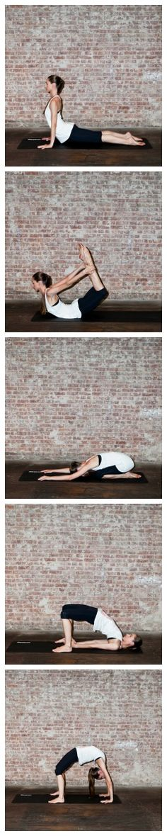 #Yoga for #Backbends: @Tara Stiles  recommends this sequence to help ease back pain if you've been hunched over a desk all day.