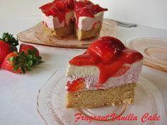 Raw Strawberry Short Cake   Fragrant Vanilla Cake