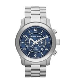 I really like watches with a silver metal band with the blue dial. Simple, classy, and extremely versatile. Pictured here: Michael Kors Watch Hunger Stop Oversized 100 Series Watch Mk Handbags, Chanel Handbags, Handbags Michael Kors, Cheap Michael Kors, Michael Kors Watch, Men's Watches, Oversized Watches, Vanessa Jackman, Gucci Purses