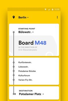 Public Transport for Android – MaterialUp. If you like UX, design, or design thinking, check out theuxblog.c: