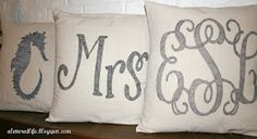A Lettered Life: Personalized drop cloth pillow tutorial