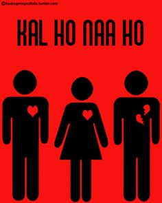Minimal Film Poster - Kal Ho Naa Ho via Hydrogene Iconic Movie Posters, Minimal Movie Posters, Minimal Poster, Movie Poster Art, Iconic Movies, Quote Posters, Film Posters, Bollywood Funny, Bollywood Quotes