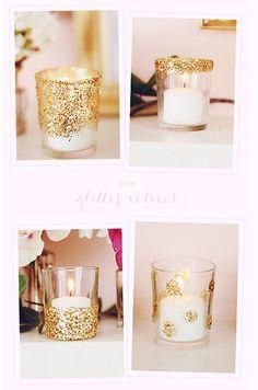 diy gold glitter