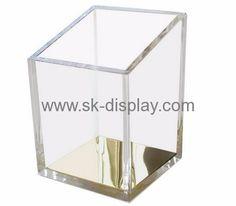 Acrylic box manufacturer customized acrylic pen holder for desk SOD-165