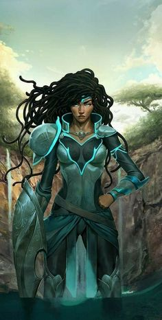 fantasy and science fiction, female warrior 3d Fantasy, Fantasy Warrior, Fantasy Women, Fantasy Artwork, Woman Warrior, Black Characters, Fantasy Characters, Female Characters, Black Love Art