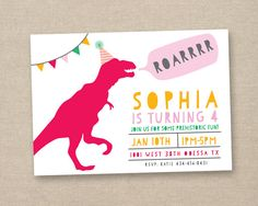 girl dinosaur invitation girl dinosaur party by paperkitedesigns