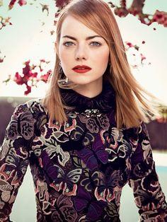 #Pelirroja ¡y llena de estilo! [Emma Stone for Vogue Magazine May 2014]