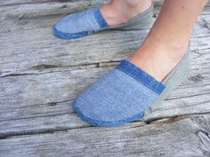 DIY Footwear from Recycled Jeans!