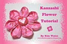 Kanzashi flower tutorial - would be great with quilt fabric scraps!