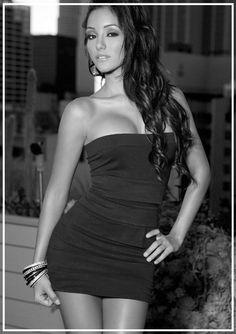 Melanie Iglesias boobs exposed party dress
