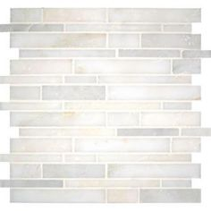 MS International Greecian White Interlocking 12 in. x 12 in. x 10 mm Polished Marble Mesh-Mounted Mosaic Tile (10 sq. ft. / case)-SMOT-GRE-I...