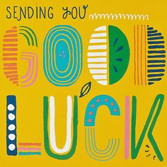 Print & Pattern Blog -good luck typographic card by Marks & spencer