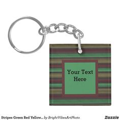 Shop for customizable Green keychains on Zazzle. Buy a metal, acrylic, or wrist style keychain, or get different shapes like round or rectangle! Green Gifts, Different Shapes, Green Colors, Stationery, Stripes, Personalized Items, Yellow, Grey, Gray