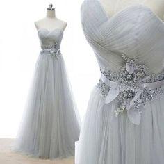 Charming Prom Dress,Sweetheart Prom Dress,Tulle Prom Dress,Flower Evening Dress P597