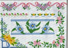 أرشيف الألبومات - I motivi più belli a punto croce. Cross Stitch Heart, Cute Cross Stitch, Cross Stitch Borders, Cross Stitch Flowers, Cross Stitch Designs, Cross Stitching, Cross Stitch Embroidery, Cross Stitch Patterns, Roses And Violets