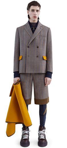 Roy wool shorts with contrasting rib detailing #AcneStudios #FW15 #menswear