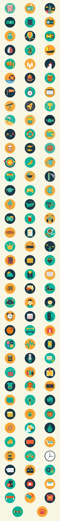 Meroo – A Gorgeous Flat-Styled Icon Set (110 Icons)